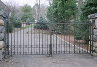 Driveway Gates with Oil Rubbed Bronze Faux Finish