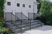 Heavy weight gooseneck railings