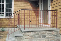 Front Entrance Forged & painted steel railing
