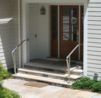 Stainless Steel Entrance Rails with grained finish